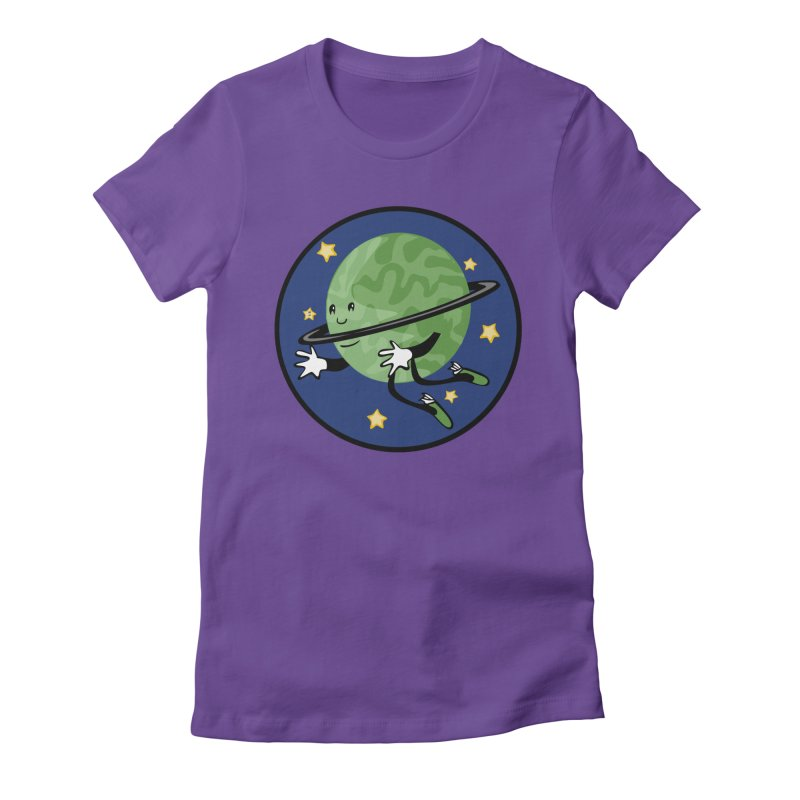 Planetary Friendship Women's Fitted T-Shirt by elledeegee's Artist Shop