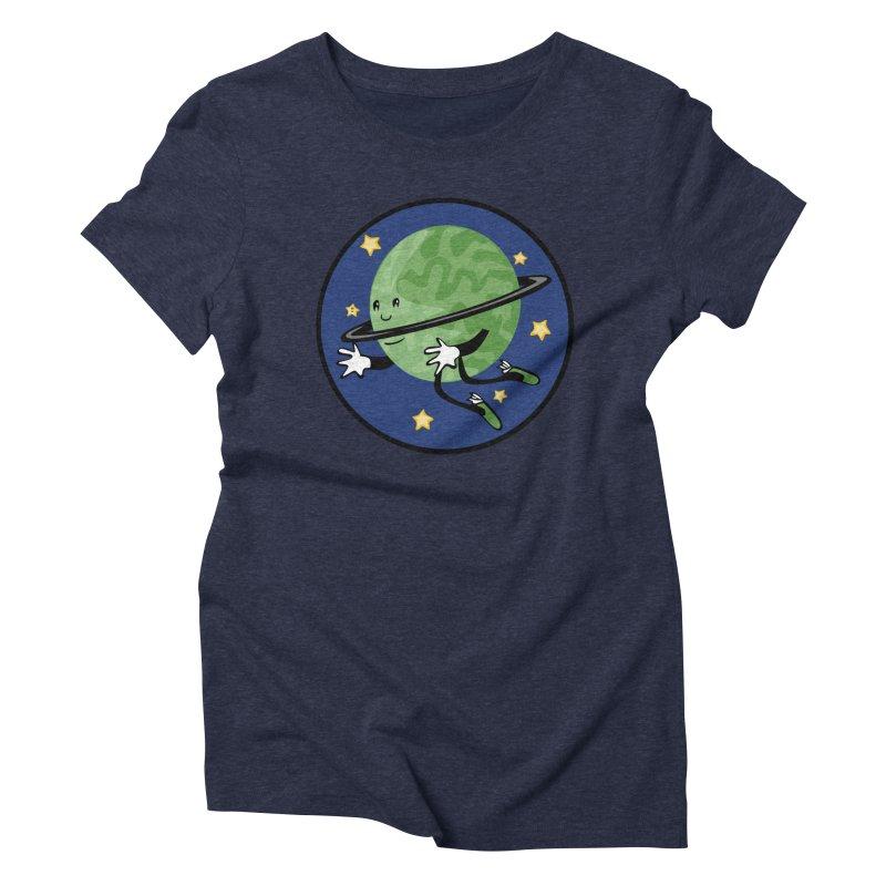 Planetary Friendship Women's Triblend T-Shirt by elledeegee's Artist Shop