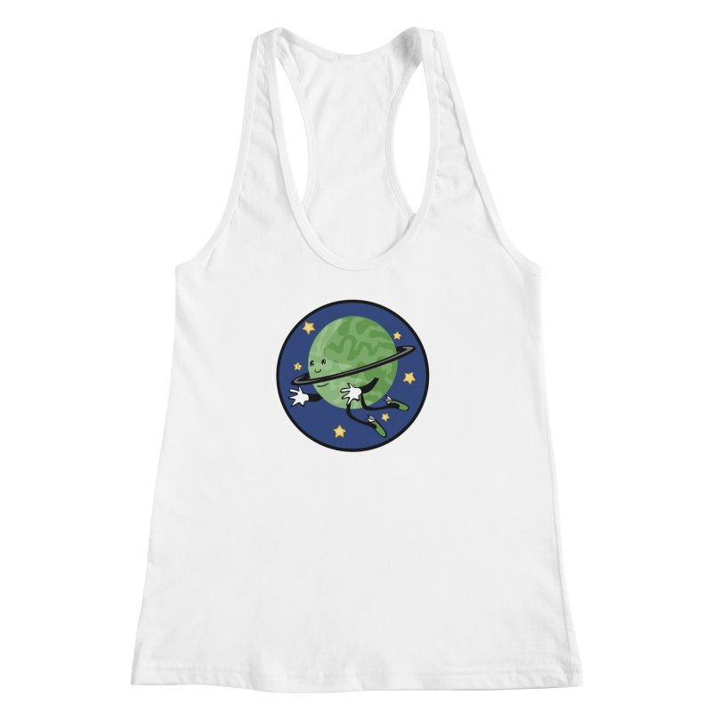 Planetary Friendship Women's Racerback Tank by elledeegee's Artist Shop