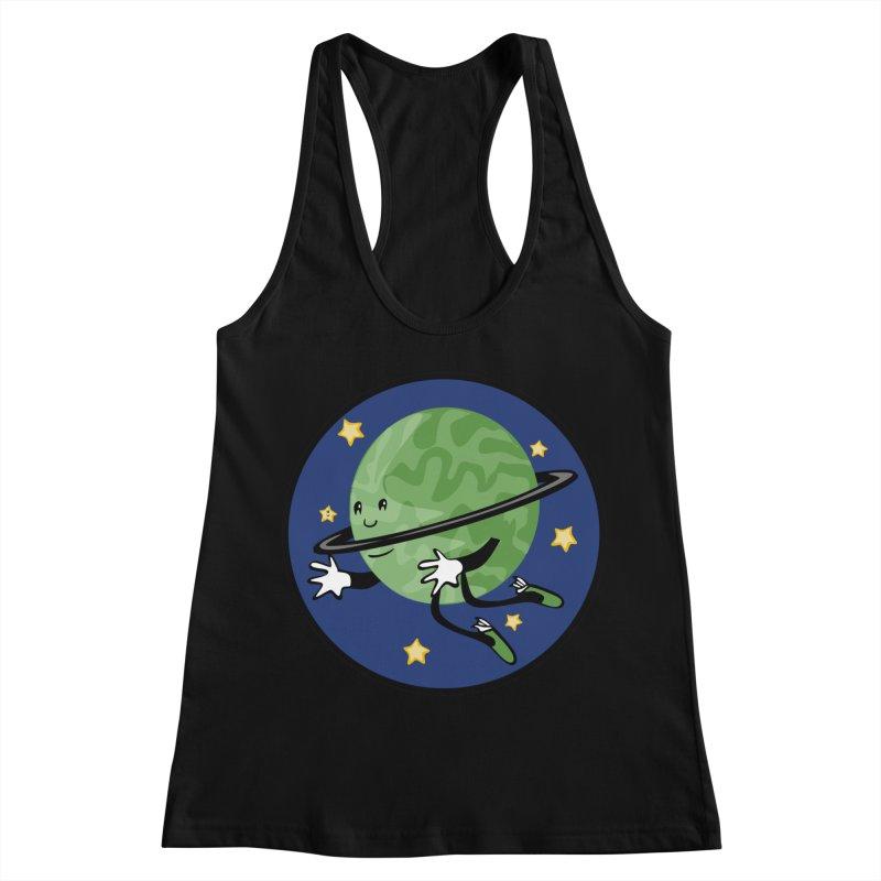 Planetary Friendship Women's Racerback Tank by elledeegee's Artist Shop