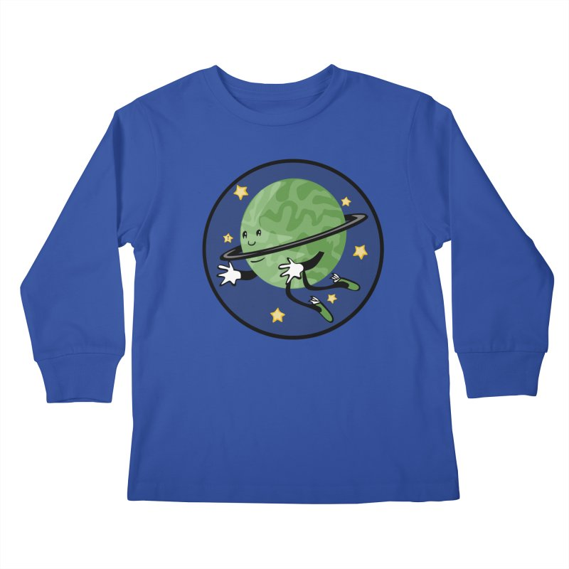 Planetary Friendship Kids Longsleeve T-Shirt by elledeegee's Artist Shop