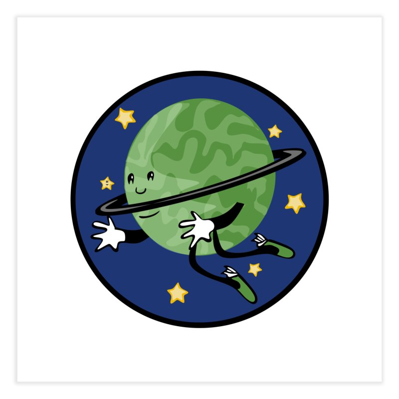 Planetary Friendship Home Fine Art Print by elledeegee's Artist Shop