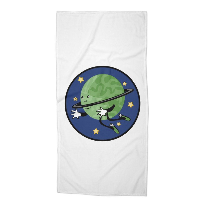 Planetary Friendship Accessories Beach Towel by elledeegee's Artist Shop