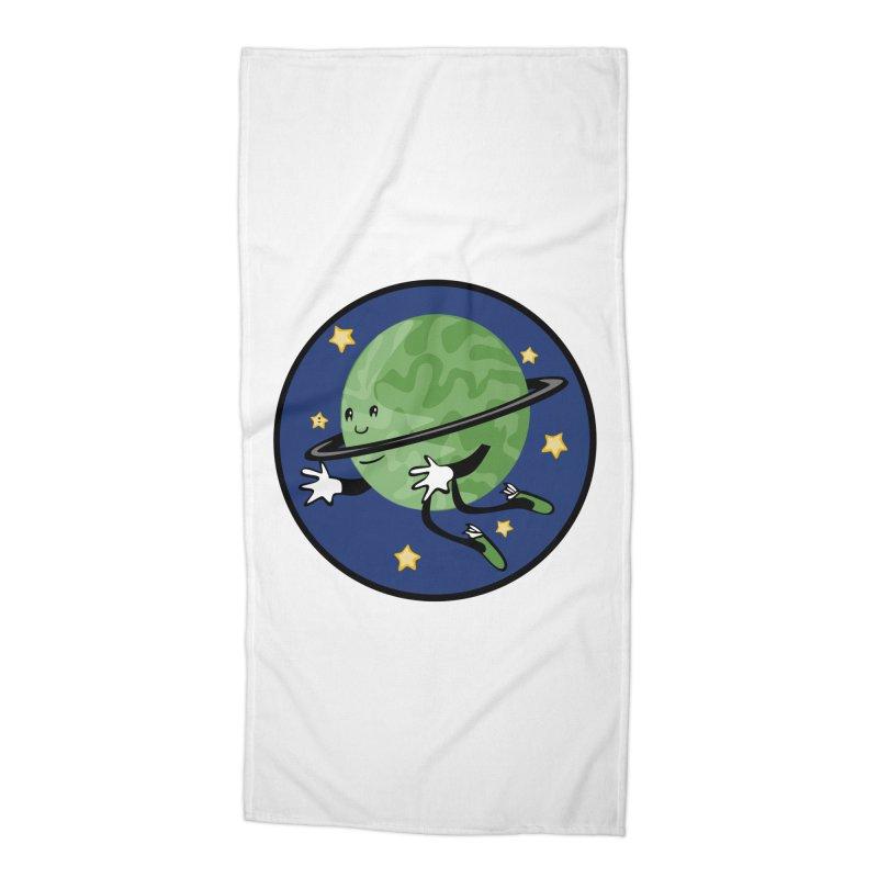 Planetary Friendship Accessories Beach Towel by elledeegee's Artist Shop