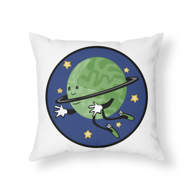 Planetary Friendship Home Throw Pillow by elledeegee's Artist Shop