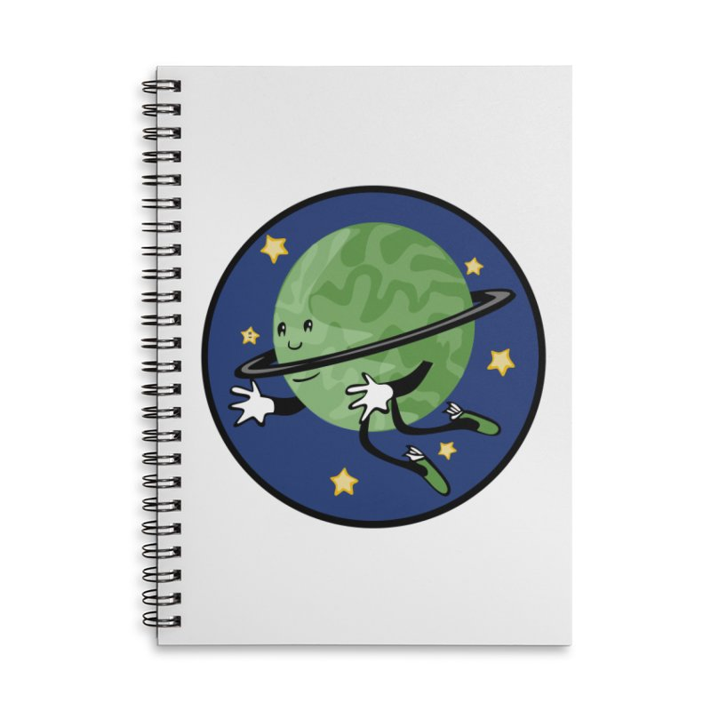 Planetary Friendship Accessories Lined Spiral Notebook by elledeegee's Artist Shop