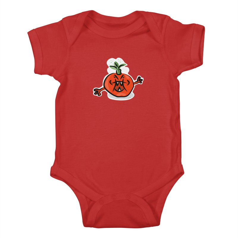 Steamed Tomato Kids Baby Bodysuit by elledeegee's Artist Shop