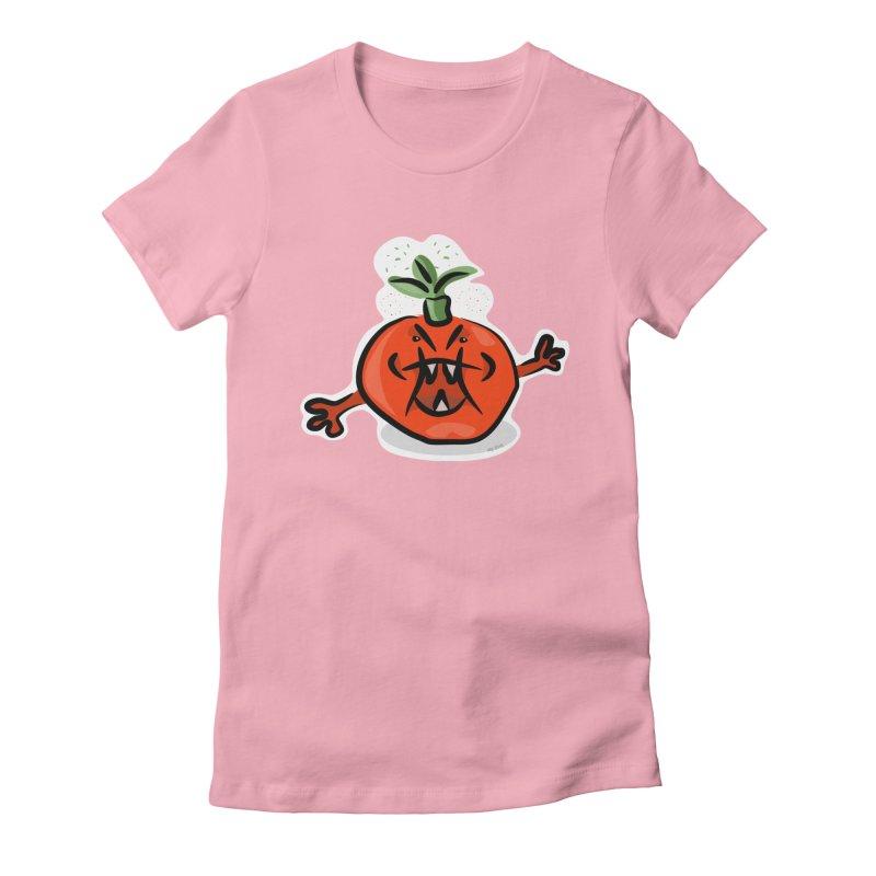 Steamed Tomato Women's Fitted T-Shirt by elledeegee's Artist Shop