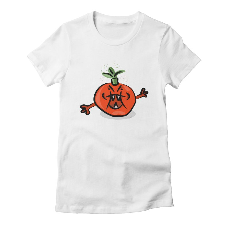 Steamed Tomato Women's Fitted T-Shirt by elledeegee's Artist Shop