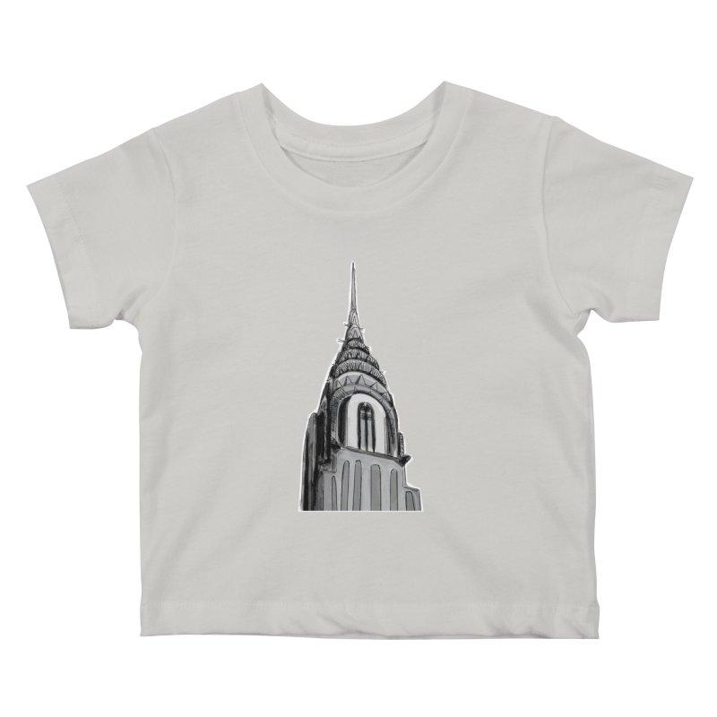 Chrysler Building Kids Baby T-Shirt by elledeegee's Artist Shop