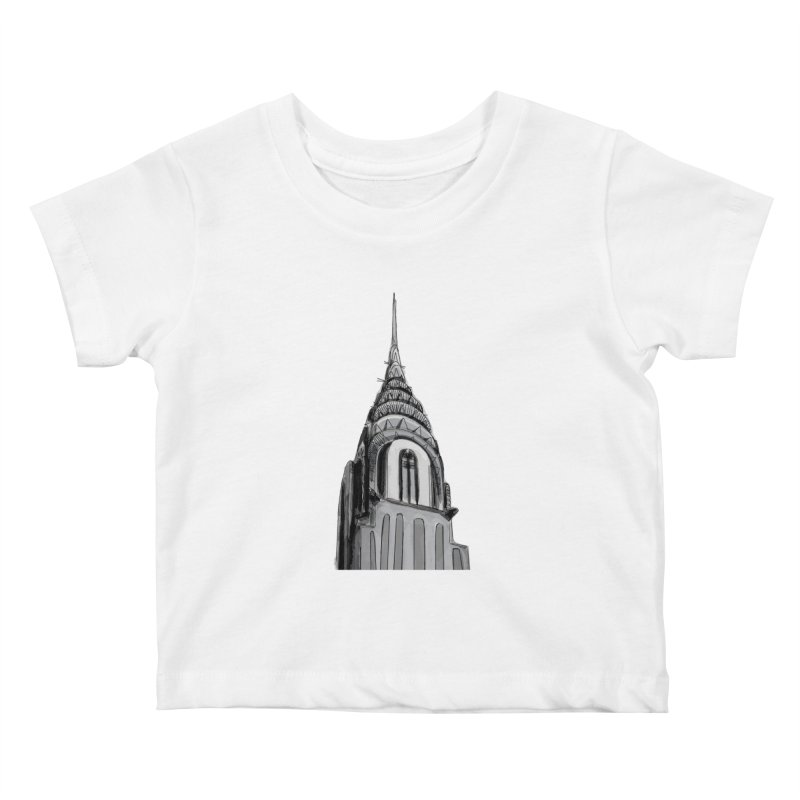 Chrysler Building Kids Baby T-Shirt by elledeegee's Artist Shop