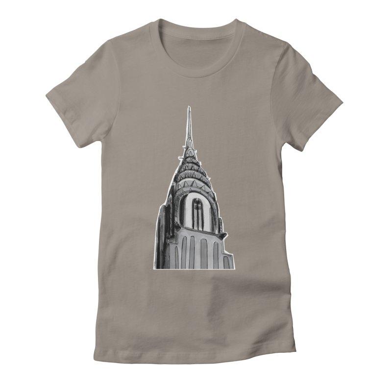 Chrysler Building Women's Fitted T-Shirt by elledeegee's Artist Shop