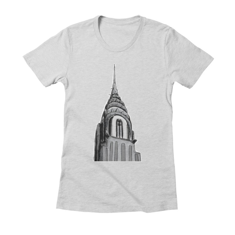 Chrysler Building Women's Fitted T-Shirt by elledeegee's Artist Shop