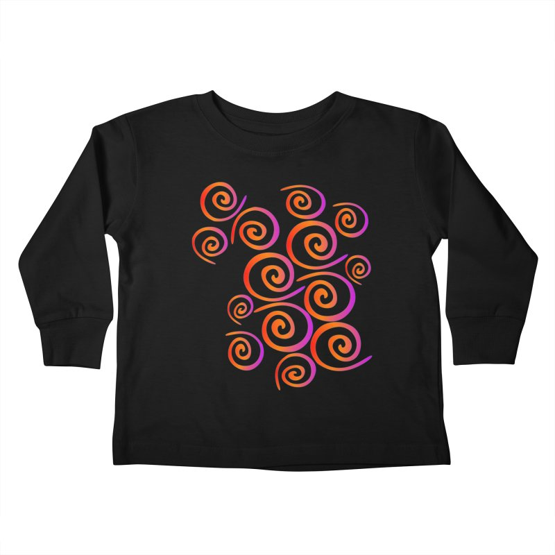 Swirly Kids Toddler Longsleeve T-Shirt by elledeegee's Artist Shop