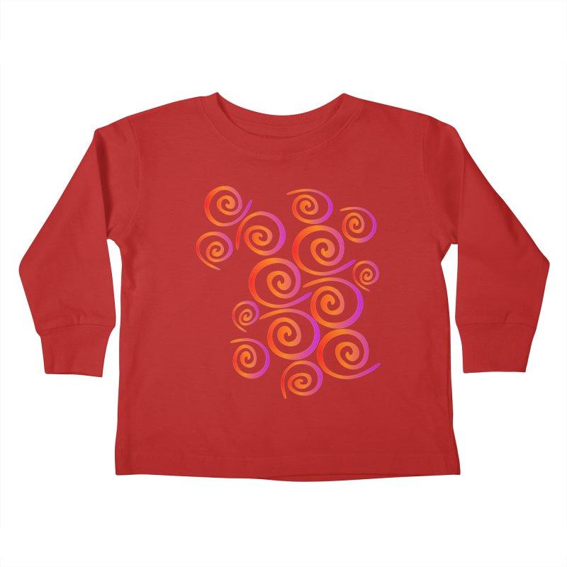 Swirly Kids Toddler Longsleeve T-Shirt by elledeegee's Artist Shop
