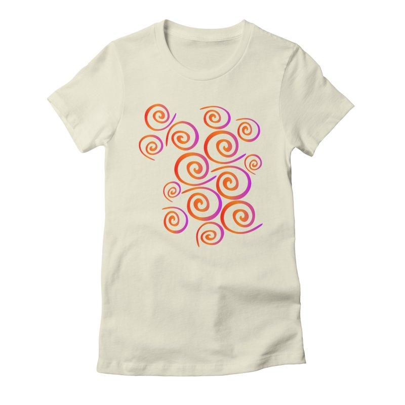Swirly Women's Fitted T-Shirt by elledeegee's Artist Shop