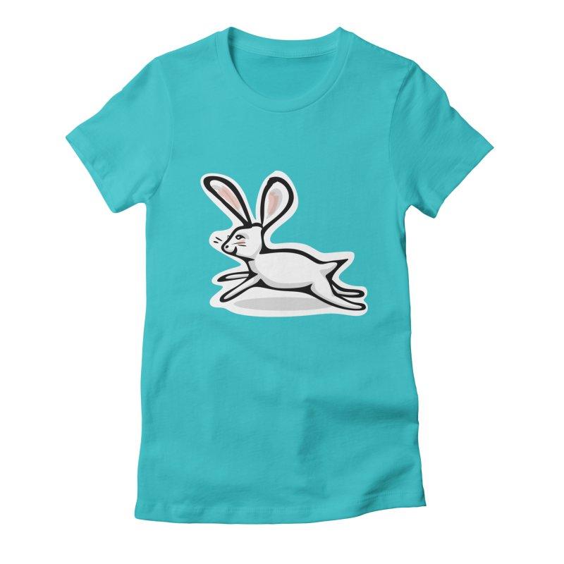 He's Late! Women's Fitted T-Shirt by elledeegee's Artist Shop