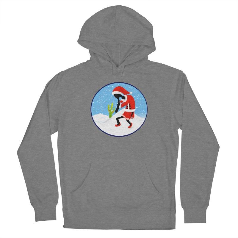 Kokopelli Santa Women's Pullover Hoody by elledeegee's Artist Shop