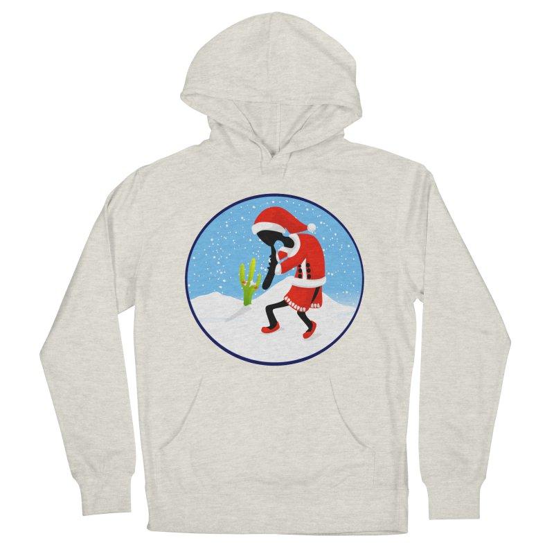 Kokopelli Santa Men's French Terry Pullover Hoody by elledeegee's Artist Shop