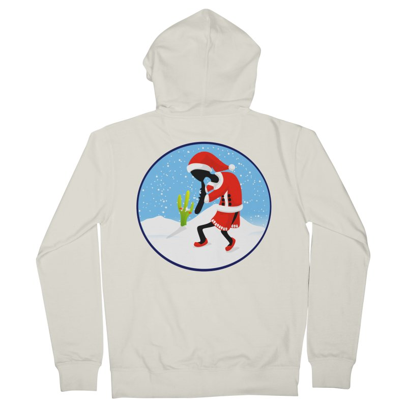 Kokopelli Santa Women's Zip-Up Hoody by elledeegee's Artist Shop