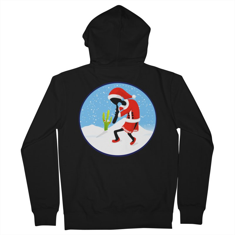 Kokopelli Santa Men's Zip-Up Hoody by elledeegee's Artist Shop