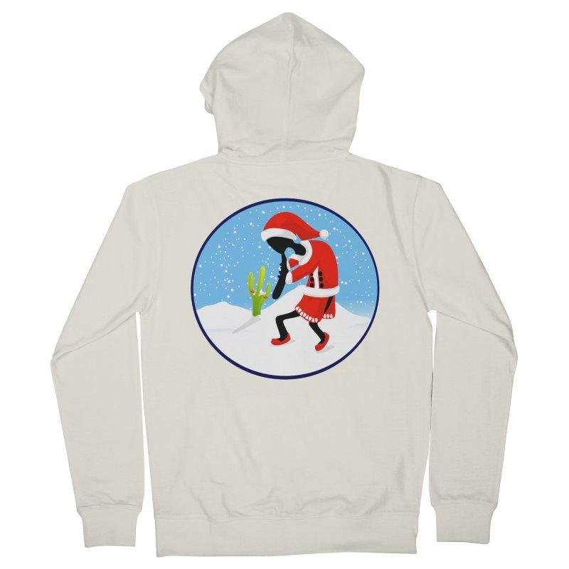 Kokopelli Santa Men's Zip-Up Hoody by elledeegee's Artist Shop