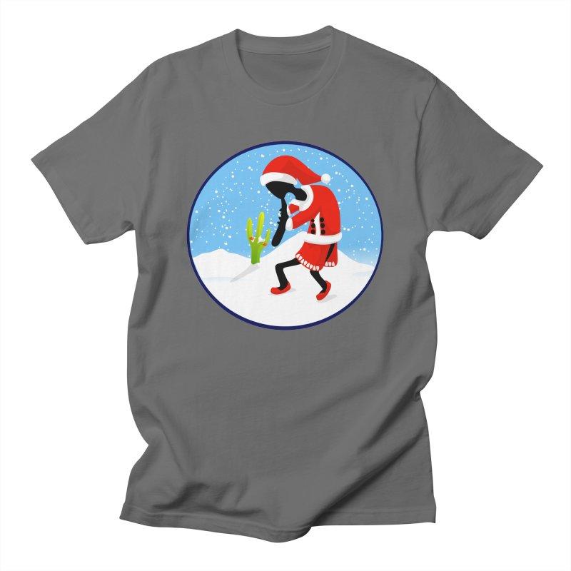 Kokopelli Santa Men's T-Shirt by elledeegee's Artist Shop