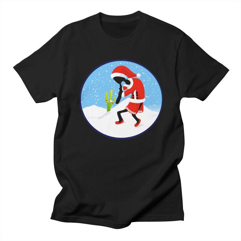 Kokopelli Santa Men's Regular T-Shirt by elledeegee's Artist Shop