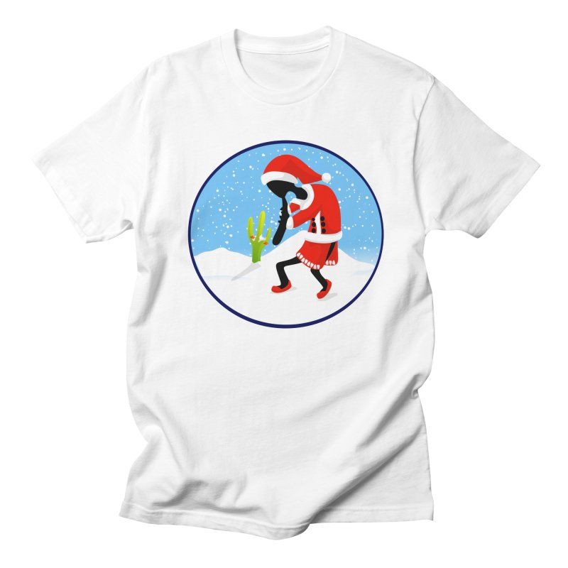 Kokopelli Santa Men's Regular T-Shirt by elledeegee's Artist Shop