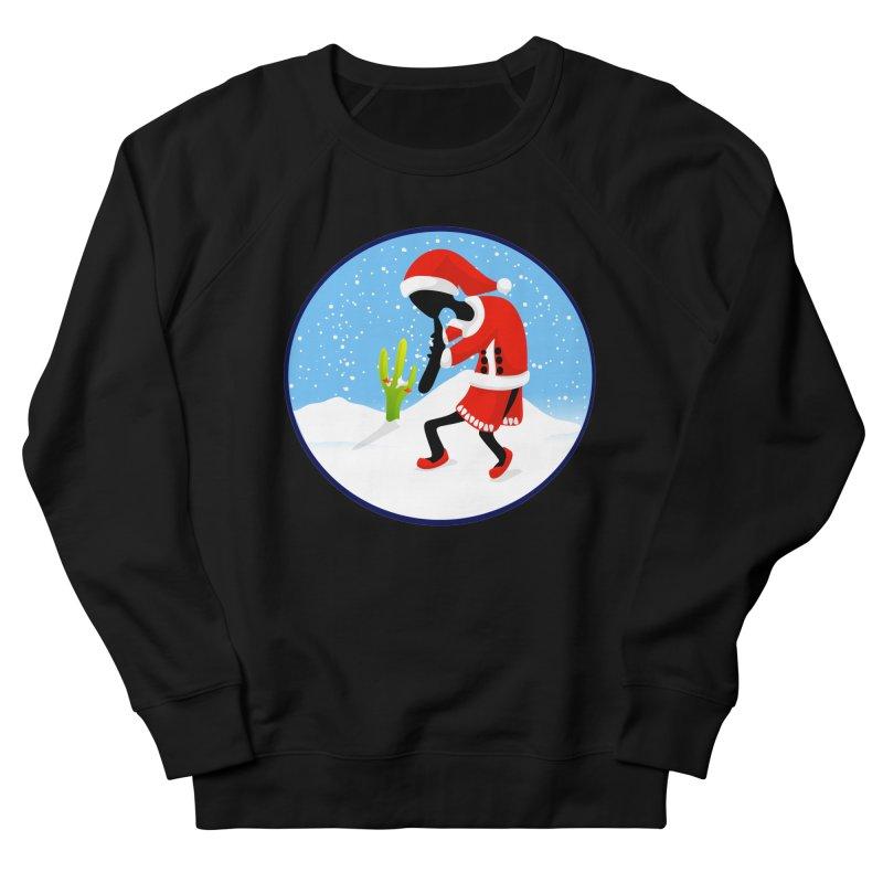 Kokopelli Santa Women's French Terry Sweatshirt by elledeegee's Artist Shop