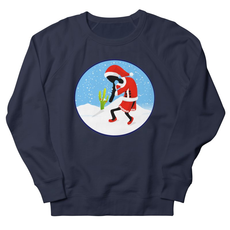 Kokopelli Santa Women's Sweatshirt by elledeegee's Artist Shop