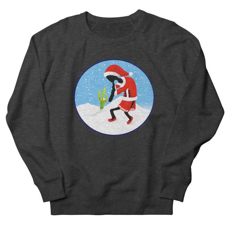 Kokopelli Santa Men's French Terry Sweatshirt by elledeegee's Artist Shop
