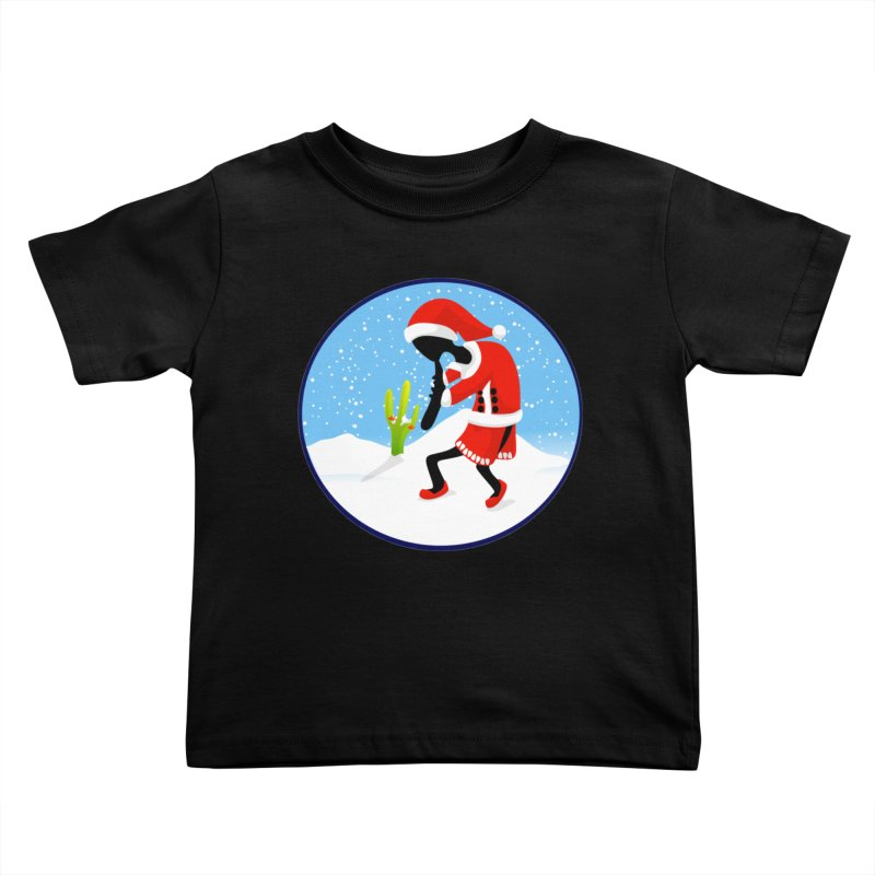 Kokopelli Santa Kids Toddler T-Shirt by elledeegee's Artist Shop