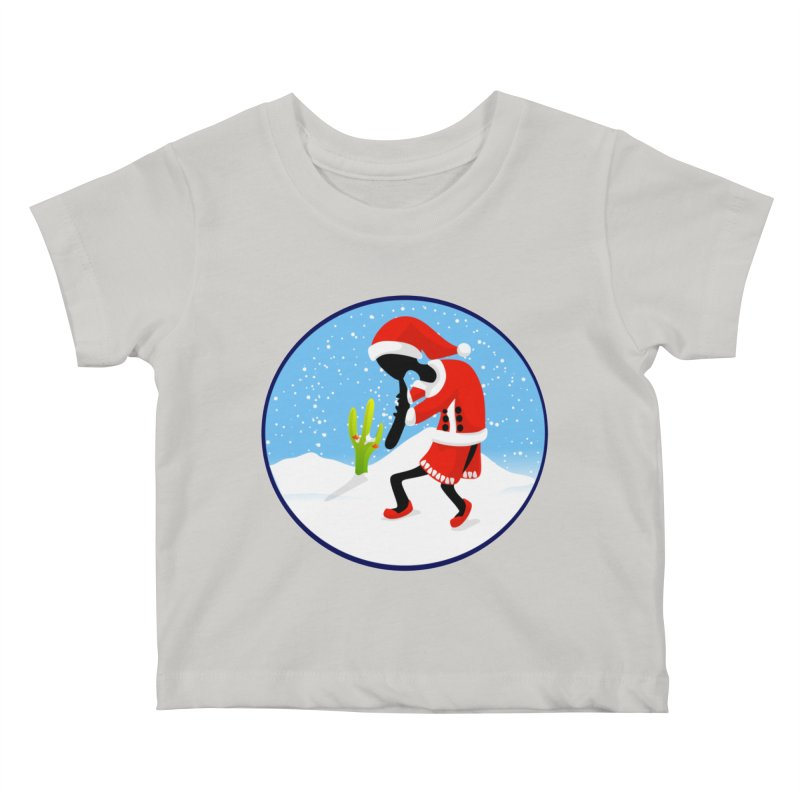 Kokopelli Santa Kids Baby T-Shirt by elledeegee's Artist Shop