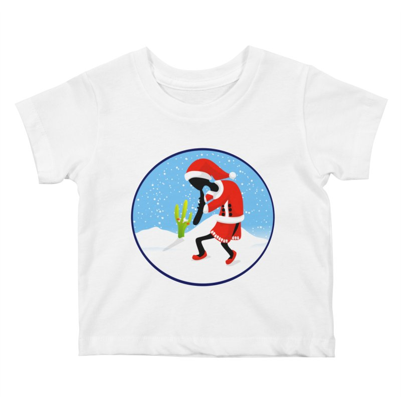 Kokopelli Santa Kids Baby T-Shirt by elledeegee's Artist Shop