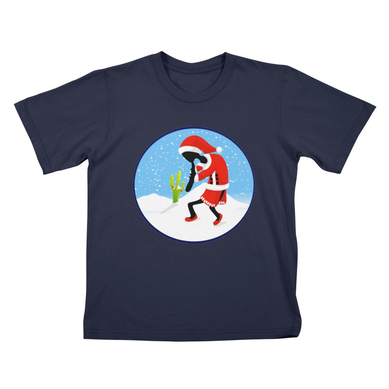 Kokopelli Santa Kids T-Shirt by elledeegee's Artist Shop