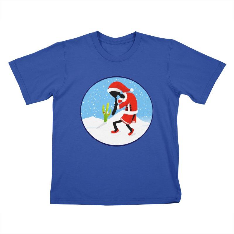 Kokopelli Santa Kids T-Shirt by elledeegee's Artist Shop