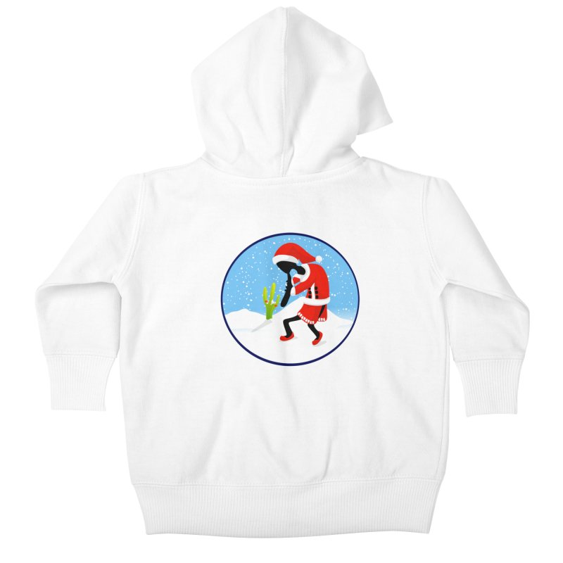Kokopelli Santa Kids Baby Zip-Up Hoody by elledeegee's Artist Shop