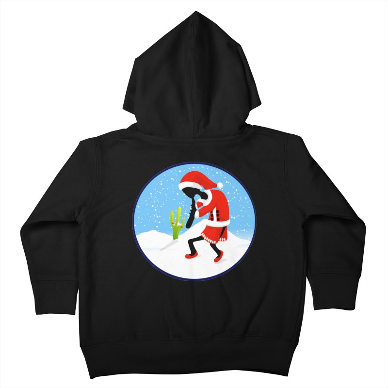 Kokopelli Santa Kids Toddler Zip-Up Hoody by elledeegee's Artist Shop