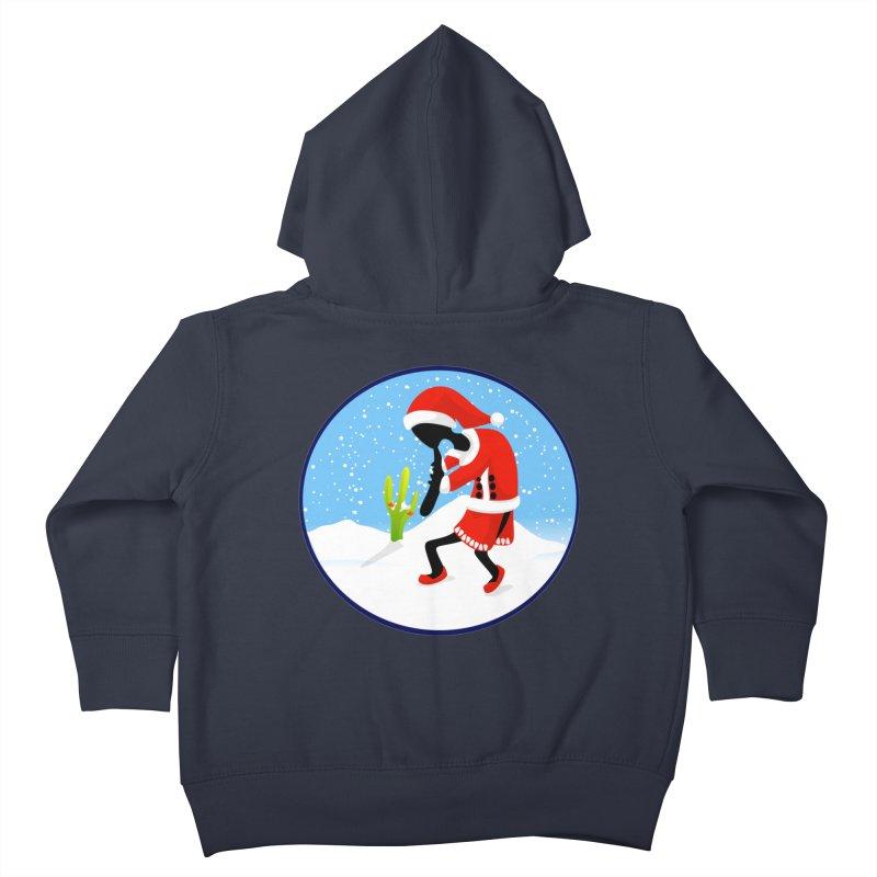 Kokopelli Santa Kids Toddler Zip-Up Hoody by elledeegee's Artist Shop