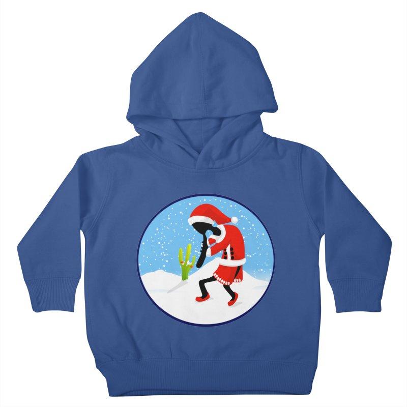 Kokopelli Santa Kids Toddler Pullover Hoody by elledeegee's Artist Shop