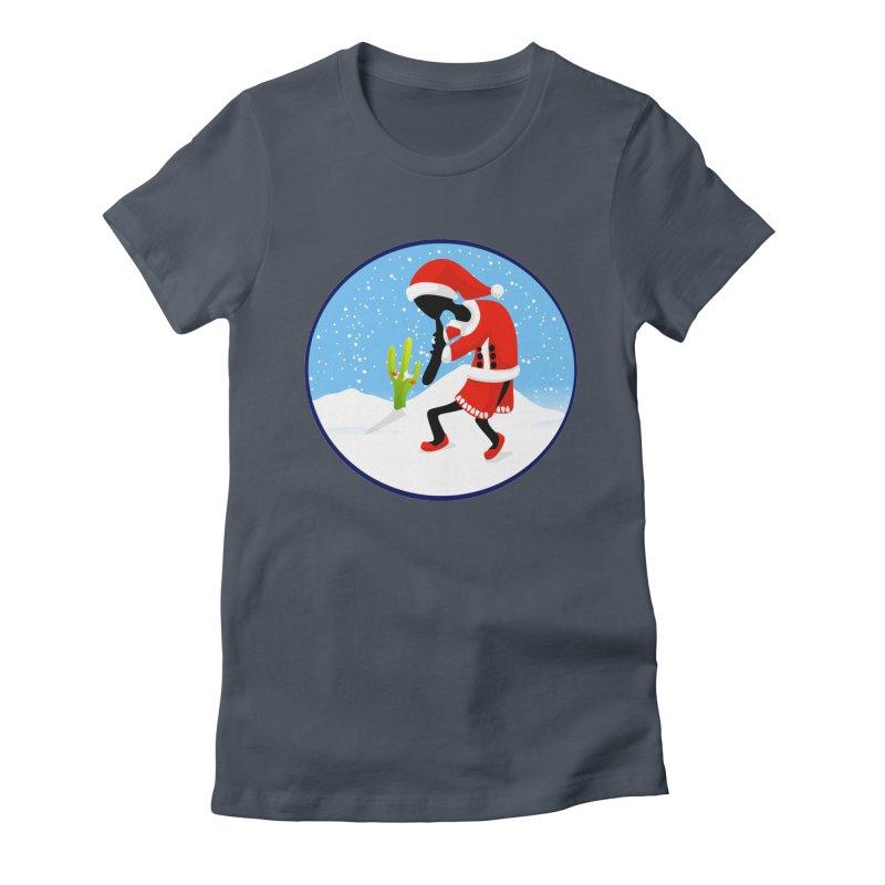 Kokopelli Santa Women's T-Shirt by elledeegee's Artist Shop