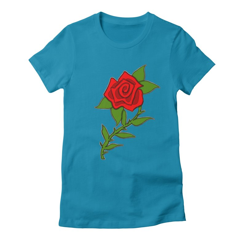 A Rose by any other name... Women's Fitted T-Shirt by elledeegee's Artist Shop