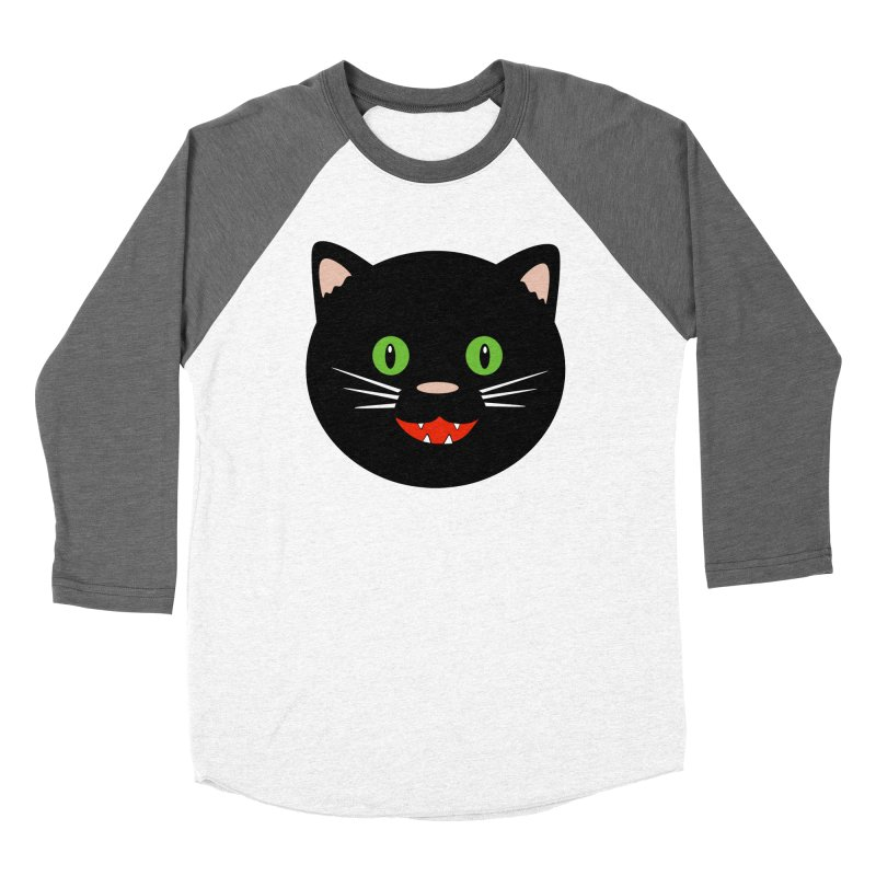 Happy Black Cat Women's Longsleeve T-Shirt by elledeegee's Artist Shop