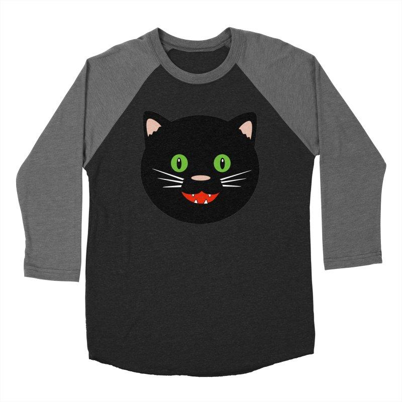 Happy Black Cat Women's Longsleeve T-Shirt by elledeegee's Artist Shop