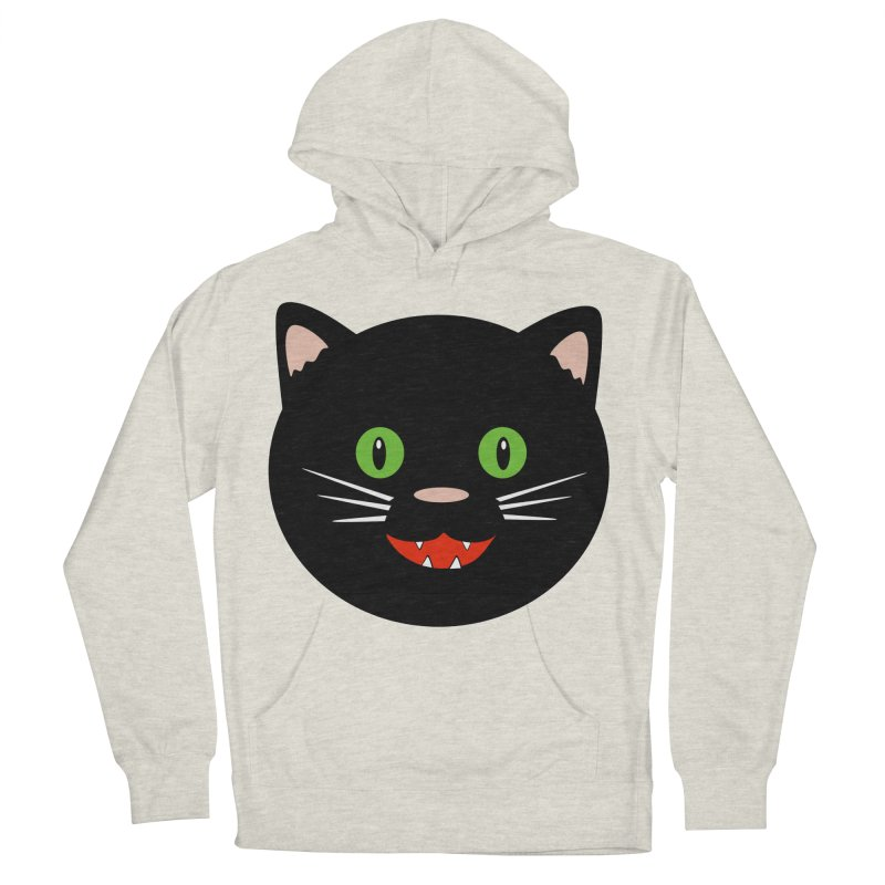 Happy Black Cat Women's French Terry Pullover Hoody by elledeegee's Artist Shop