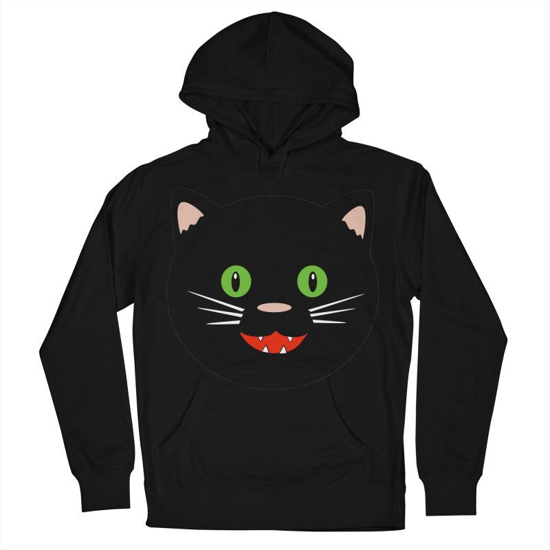 Happy Black Cat Women's French Terry Pullover Hoody by elledeegee's Artist Shop