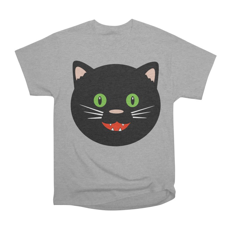 Happy Black Cat Women's Heavyweight Unisex T-Shirt by elledeegee's Artist Shop