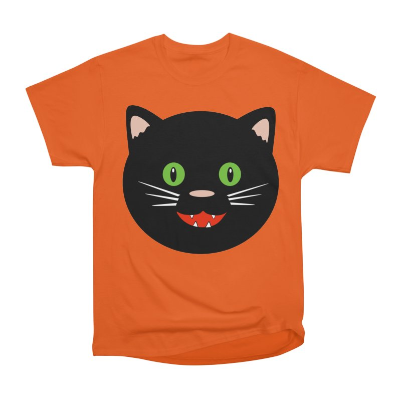 Happy Black Cat Women's T-Shirt by elledeegee's Artist Shop