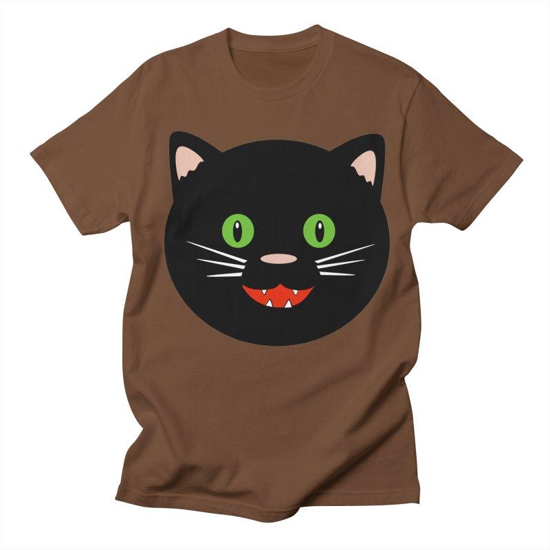 Happy Black Cat Women's Regular Unisex T-Shirt by elledeegee's Artist Shop